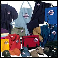 Ebroidered shirts, bags, hats and more at The Trophy Trolley!