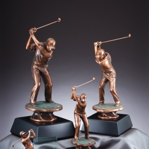 Golf Awards, Male-Female Resin, Glass, Crystal