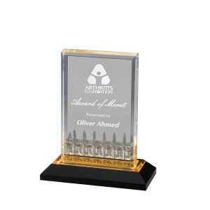 Acrylic Awards laser engraved
