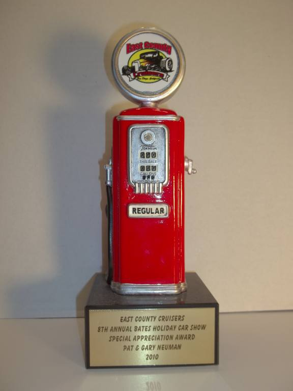 Custom Vintage Gas Pump Trophies AutoTruckCar ShowTrophy Trolley - Car show trophy packages