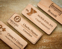 Custom Laser Engraved Name Tags With