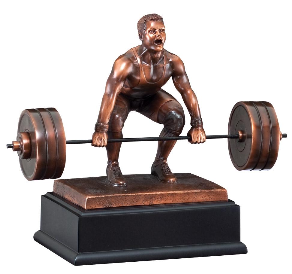 Bronze Resin Deadlift Sculpture Award Trophytrophy Trolley
