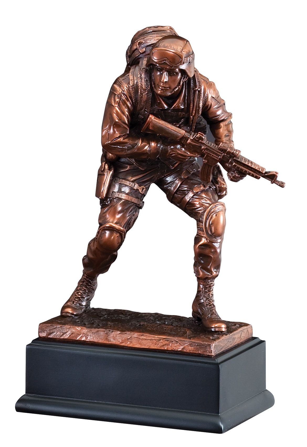 American Hero Marine Bronze Resin Sculpture Awardtrophy