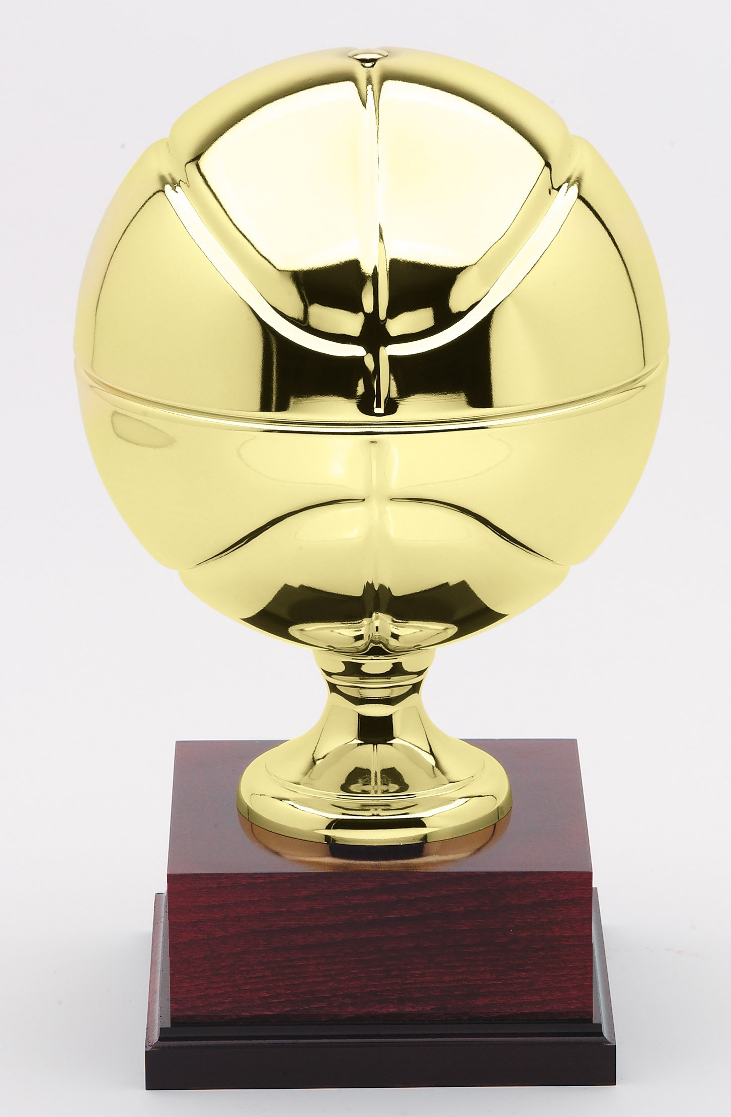 Regulation size gold plated basketball perpetual