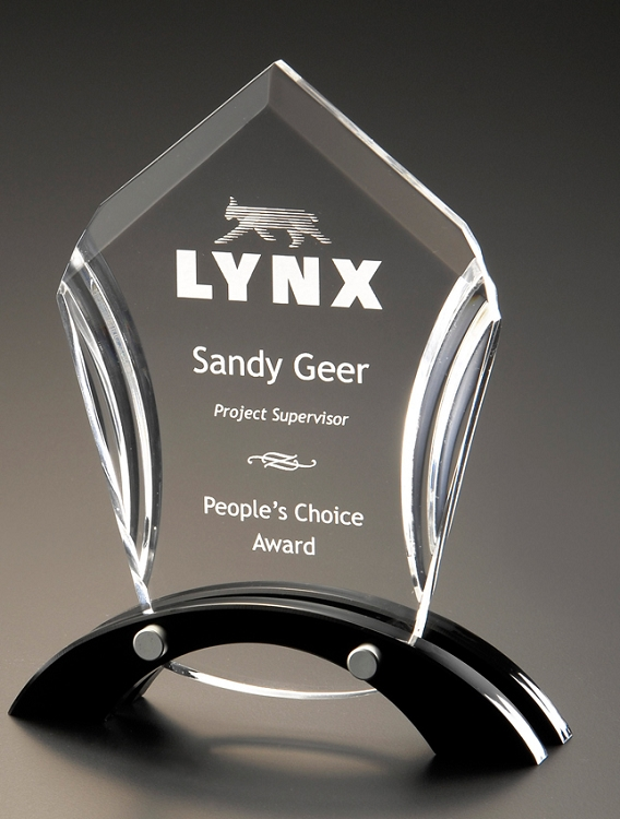 Accent Awards With Black Acrylic Riserstrophy Trolley