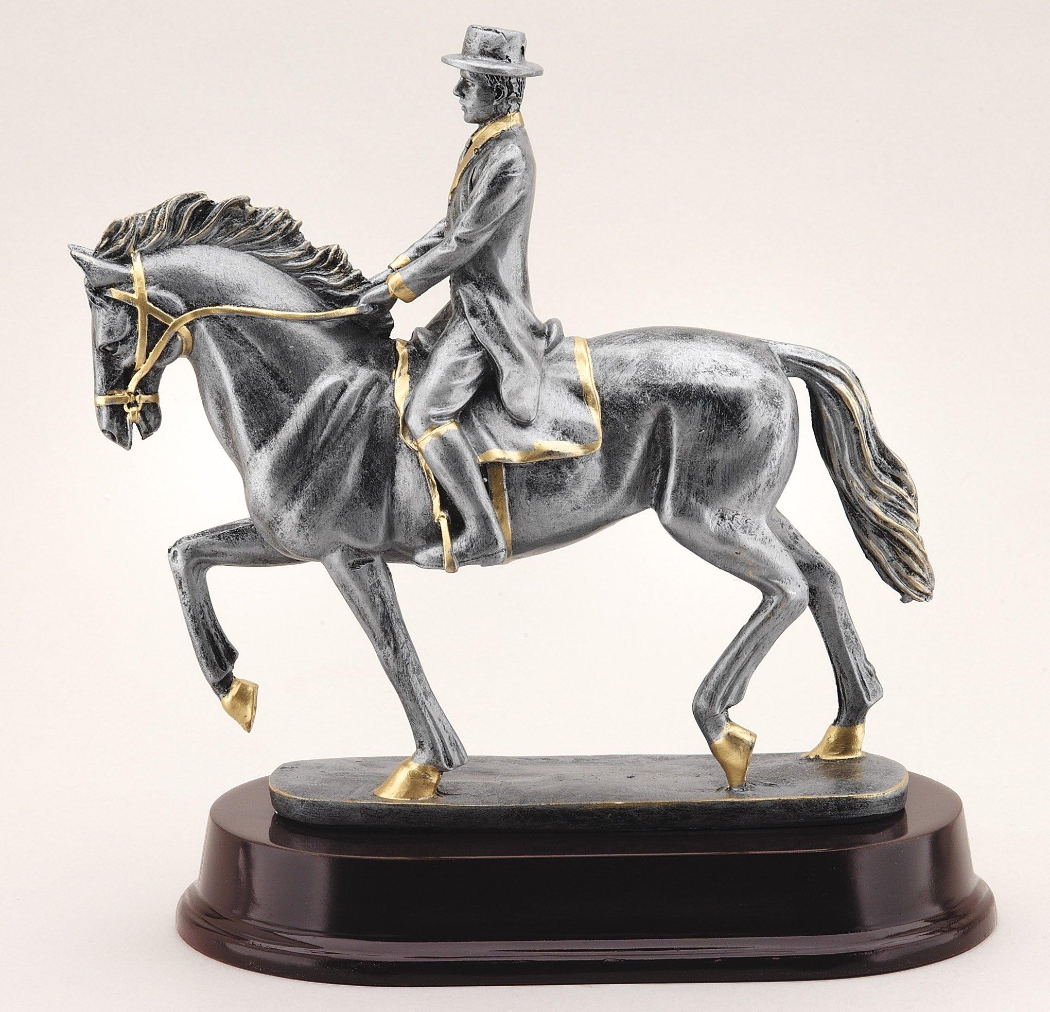 Equestrian Trophies Resin Horse /& Jockey Trophy Award 3 Sizes FREE Engraving