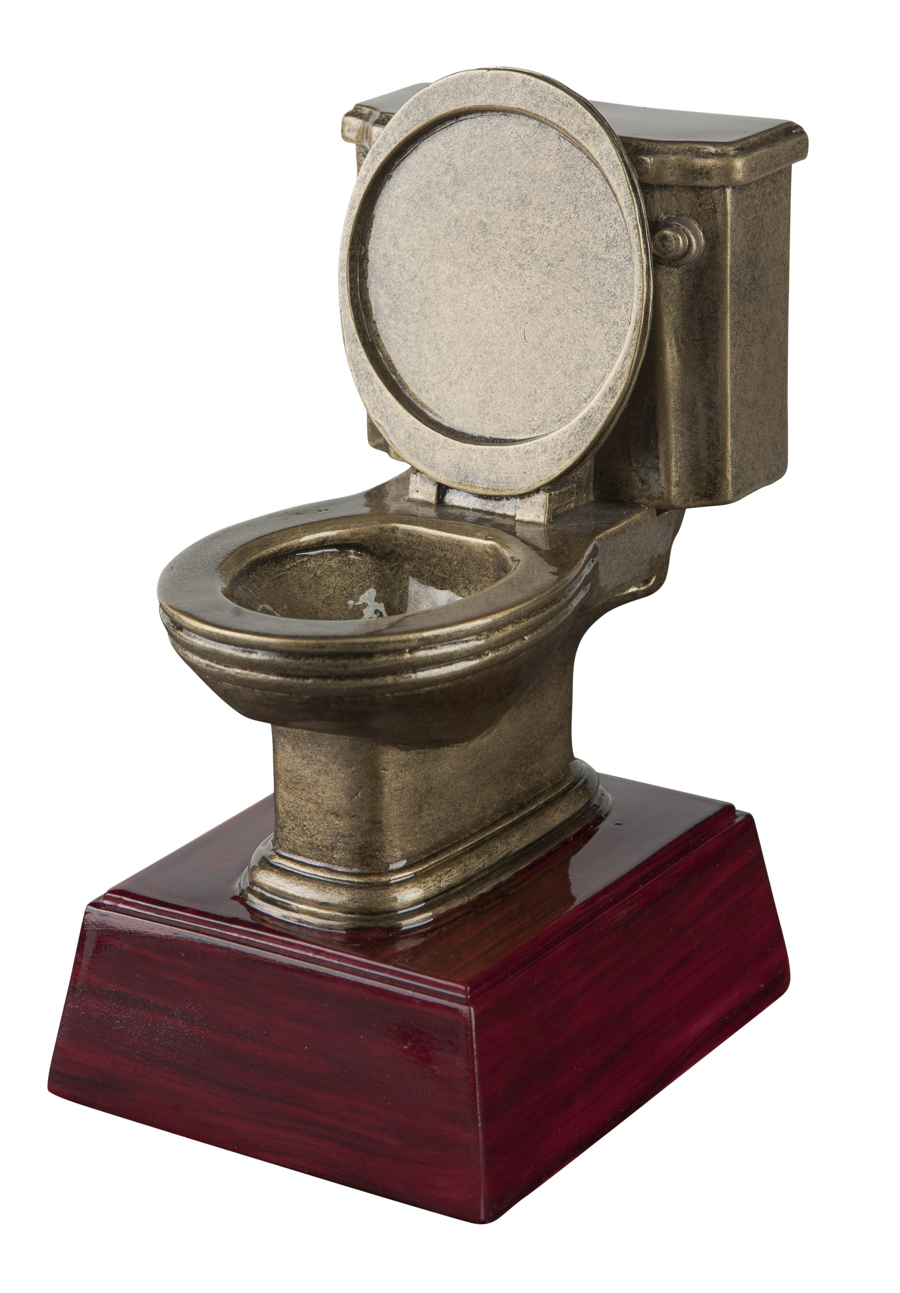 Toilet Bowl Resin Trophy Awardtrophy Trolley