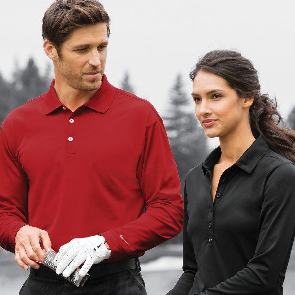 85138706 466364 Nike Long Sleeve Dri-FIT Stretch Tech Polo Mens & ladies plus tall  sizes